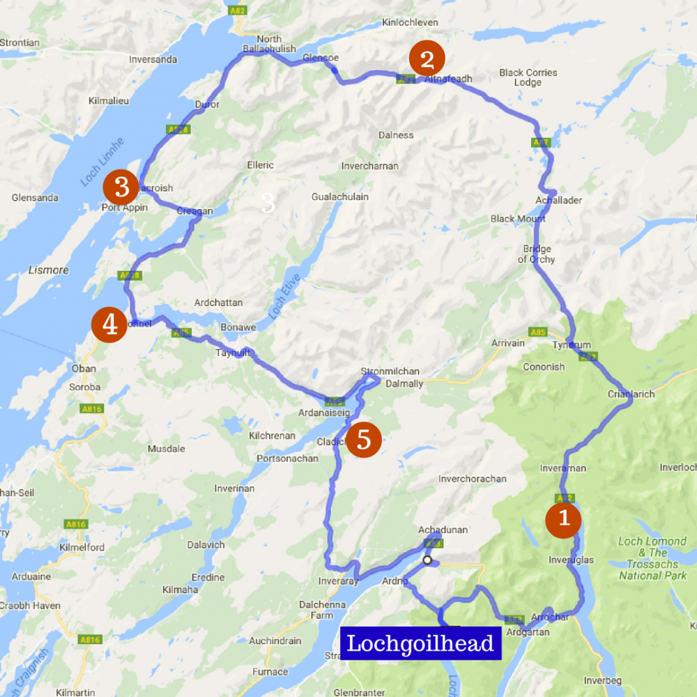 Scenic Drives | Lochgoilhead Holidays