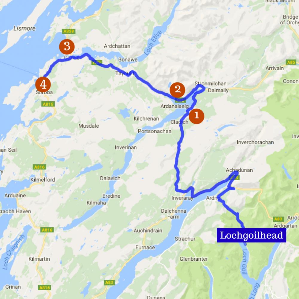 Scenic Drives Lochgoilhead Holidays border=